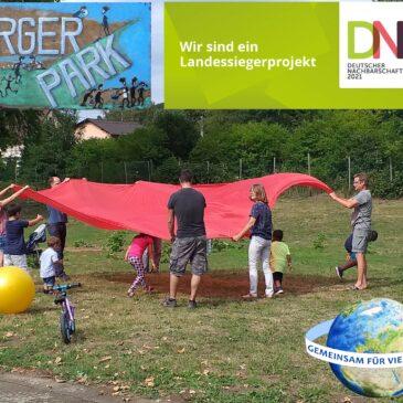 Gemeinsam für Vielfalt e.V. gewinnt mit dem Projekt Bürgerpark Unkel den Deutschen Nachbarschaftspreis Rheinland-Pfalz (Pressemitteilung GfV)
